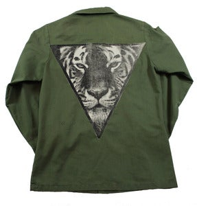 Image of GREEN TIGER ARMY JACKET 