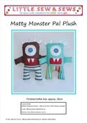 Image of PDF Sewing Pattern Matty Monster Pal Plush - photo tutorial - e-file