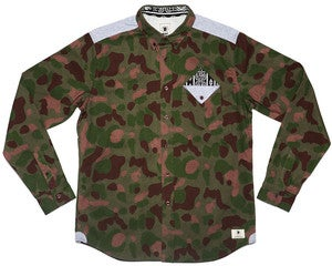 Image of BODEGA POCKET L/S CAMO SHIRT