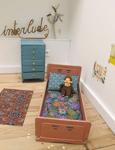 Image of Lit de poupée 1950 / Doll bed circa 1950