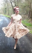 Image of Floral print circle skirt dress