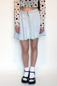 Image of denim circle skirt by TLO