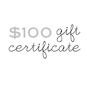 Image of gift certificate - $100