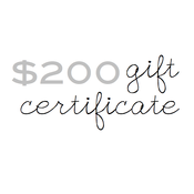 Image of gift certificate - $200
