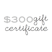 Image of gift certificate - $300