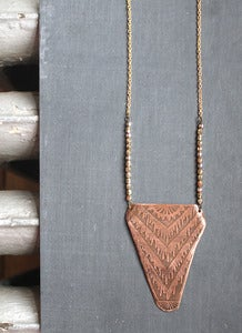 Image of modernist deco warp necklace