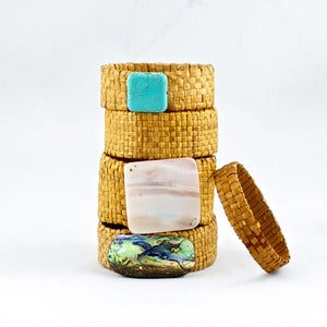 Image of Cedar Bracelet with Mother of Pearl