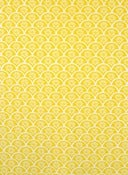 "Image of ""Fan"" handprinted fabric {yellow}"