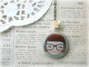 Image of Girl with Glasses Locket Necklace