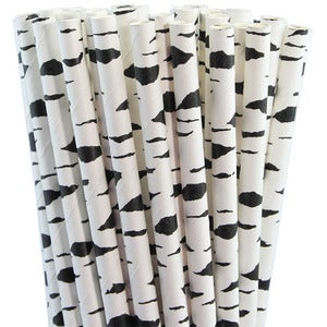 Image of NEW! Paper Straws - Black Birch Bark