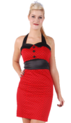 Image of H&R Red Polka Dot Pencil Dress