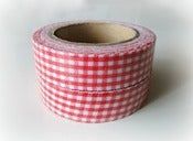 "Image of Fabric tape ""Vichy rojo"""