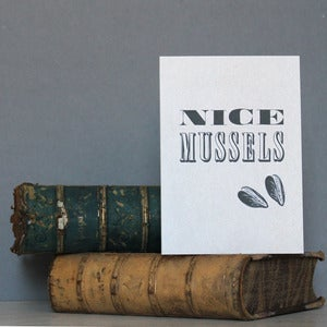Image of 'Nice Mussels' Greetings Card