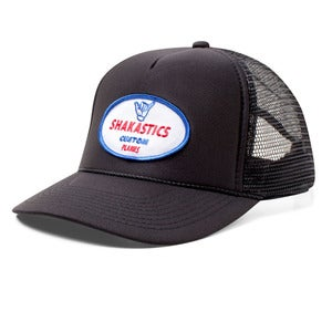 Image of Oval Logo Trucker Hat - Black
