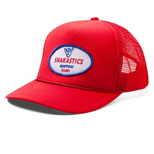 Image of Oval Logo Trucker Hat - Red