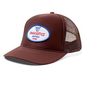 Image of Oval Logo Trucker Hat - Brown