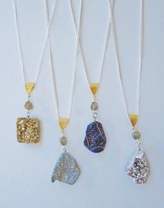 Image of Voyager - Druzy Quartz Necklaces