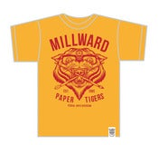 Image of Millward 'Paper Tigers' shirt (Blood over Gold Edition)
