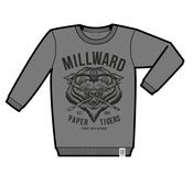 Image of Millward 'Paper Tigers' Sweater (Gloomy Grey Edition)