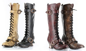 Image of Hades VINTAGE steampunk gothic Boots