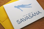 Image of Yoga Card - Savasana