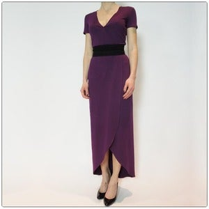 Image of The Wrap Dress Perfected - Mulberry