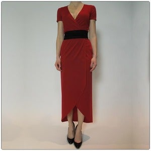 Image of The Wrap Dress Perfected - Scarlet