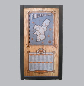 Image of philadelphia map - framed