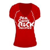 Image of Real Chicks Rock Red & White