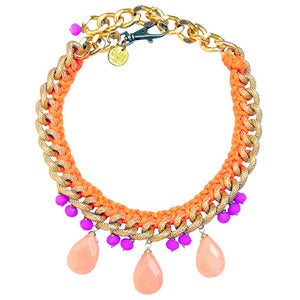 Image of *NEW* Jia Necklace (orange & purple)