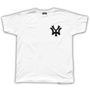 Image of 'WY' Small Logo T-Shirt - White/Black