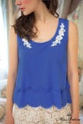 Image of Paper Doll Top (blue)