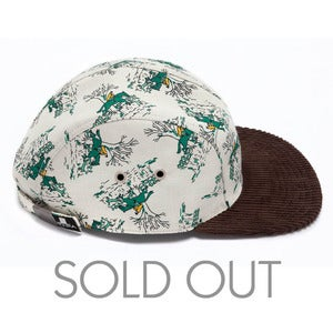 Image of MOUPIA Equestrian Green/brown 5 panel hat