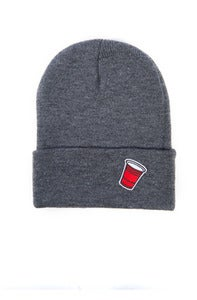 Image of Party Cup Beanie - Charcoal Grey