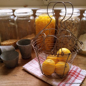 Image of French Vintage Wire Salad Basket