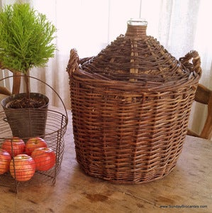 Image of French Wicker Demijohn
