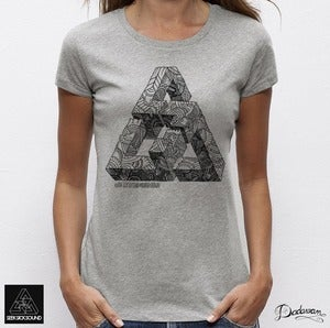 Image of T-shirt femme grey SeekSickSound by Iain Macarthur 