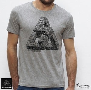 Image of T-shirt homme grey SeekSickSound by Iain Macarthur 