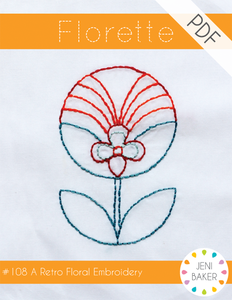 Image of Florette Embroidery PDF Pattern