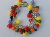 Image of Carmen Miranda Style Mixed Fruit Rockabilly Kitsch Retro Vintage Pin-up Charm Bracelet
