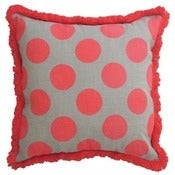 Image of Coral Gone Dotty Linen Cushion Cover