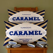 Image of PRE-ORDER Tunnock's Dark Chocolate Caramel Wafer Printed Cushion