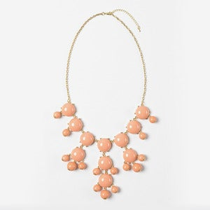 Image of Peach Bubble Necklace