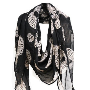 Image of  Geo Skull Scarf - Black