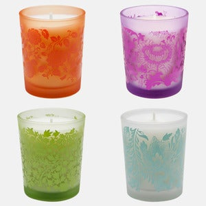 Image of Filled Patterned Votive Candle Seconds
