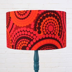 Image of Large Lampshade in Vintage Bright Dots