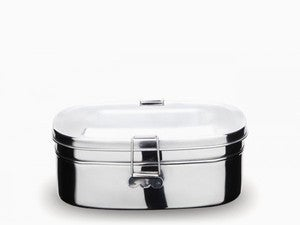 Image of NEW! Stainless Steel Two-Layer Sandwich Box (Large)