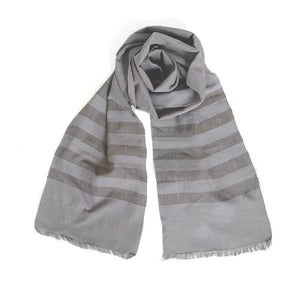 Image of Fog/Gray Narrow Scarf