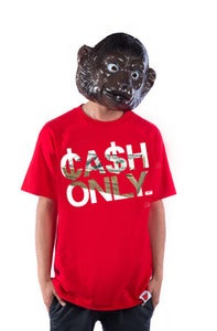 Image of Cash Only Tee - Red