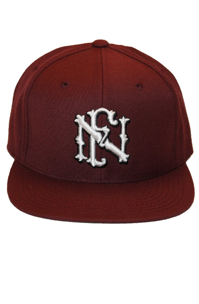 "Image of The Family ""crest"" Snapback (maroon)"